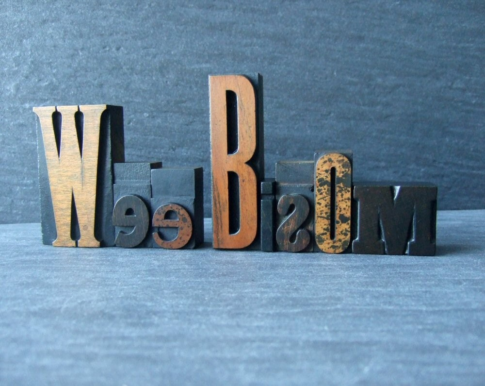 CUSTOM LISTING for thesumroomuk - Wee Bisom Letterpress Words