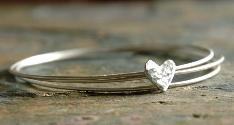 HAVE A HEART - Sterling Silver Bangles