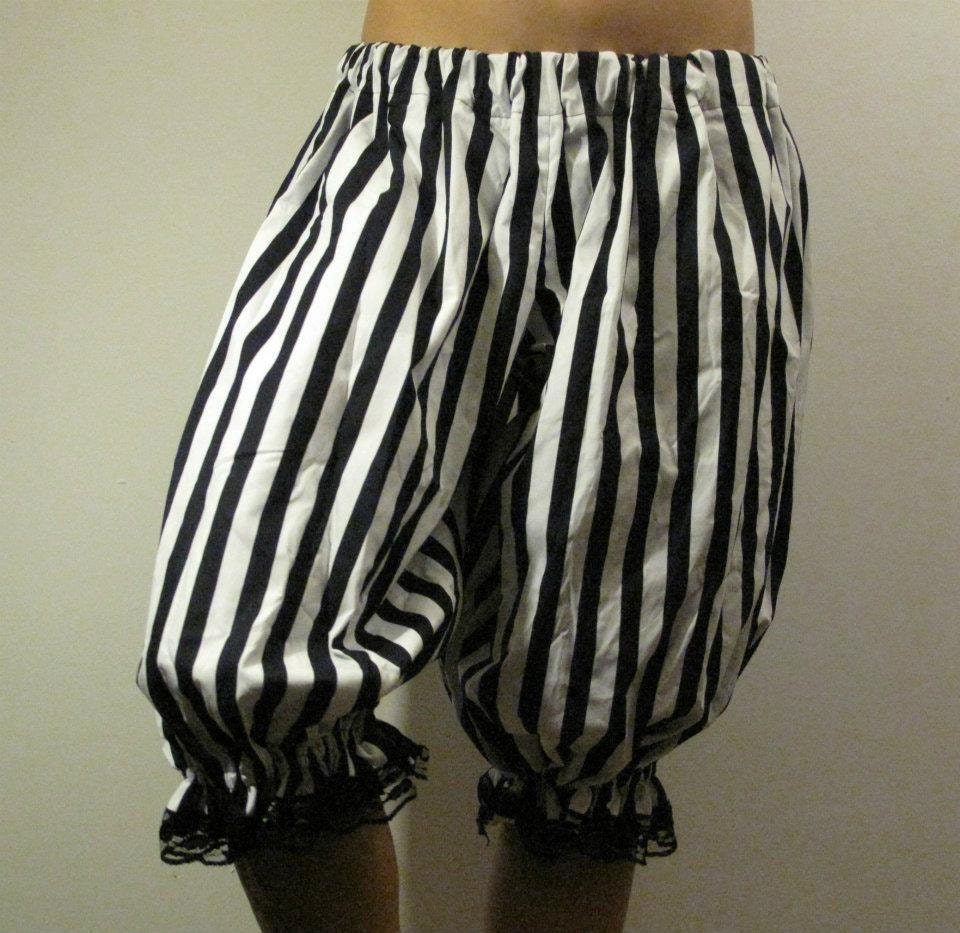 Pirate, Black and White Stripe Bloomers - DeGrubbelies