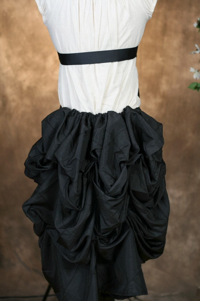 Black Mini Bustle Skirt