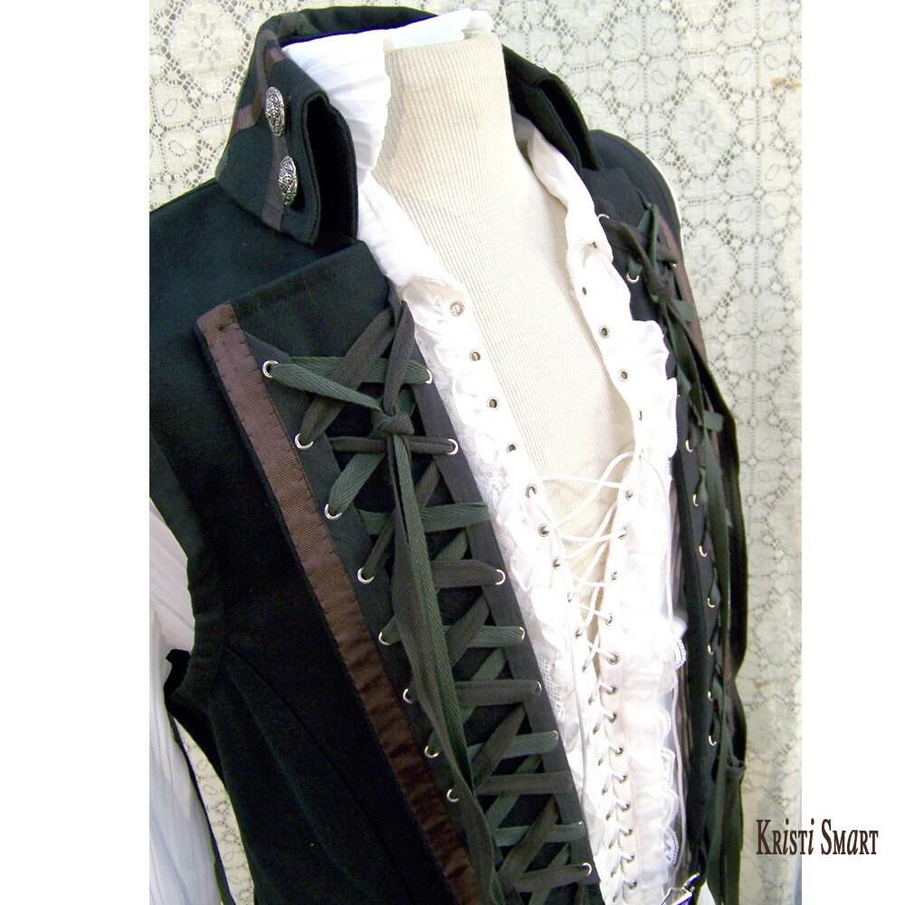 lace up steampunk rocker vest