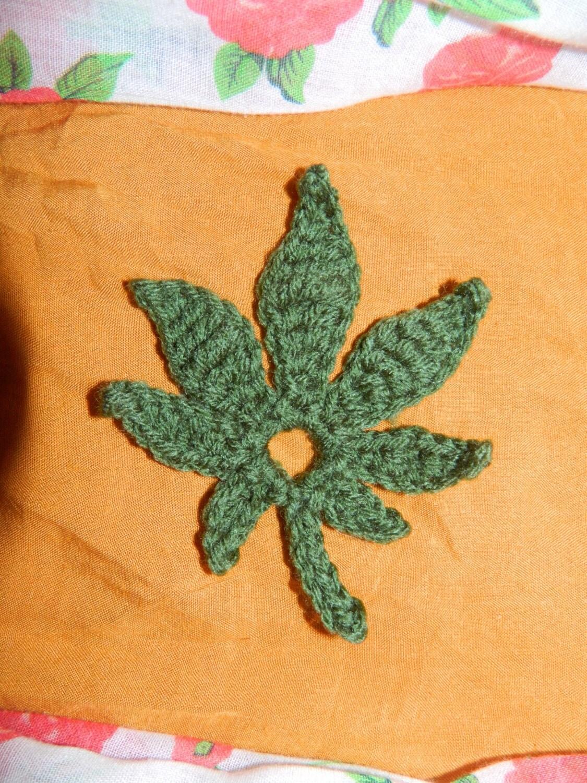 Pattern Only Crochet Marijuana Weed Leaf Motif by ...