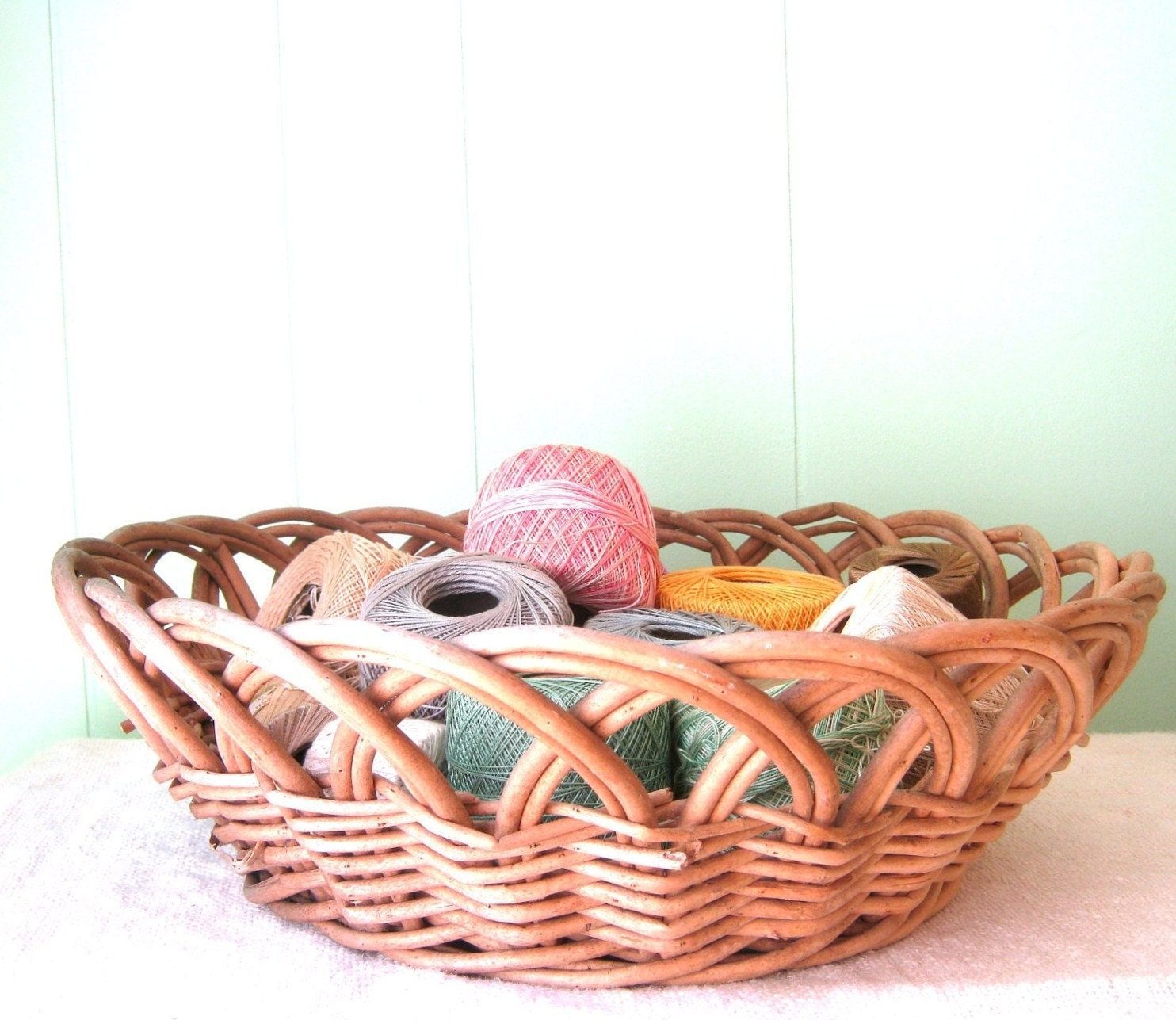 Farmhouse Decor Basket Winter Home Decor