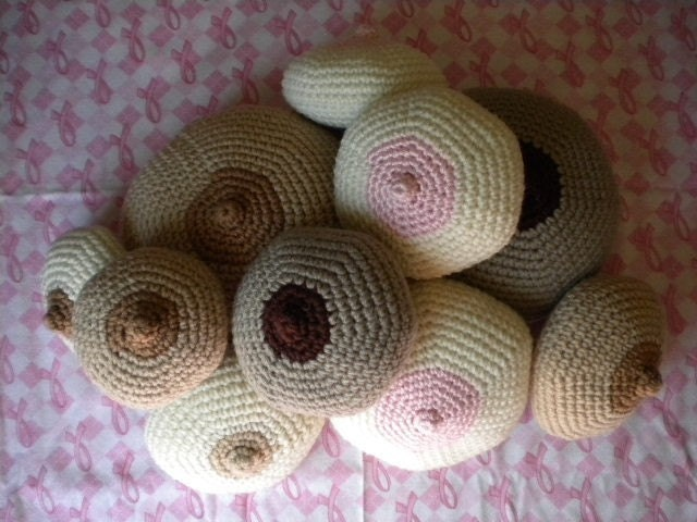 Knitted Boob Pattern : A different kind of yarn My Left Breast