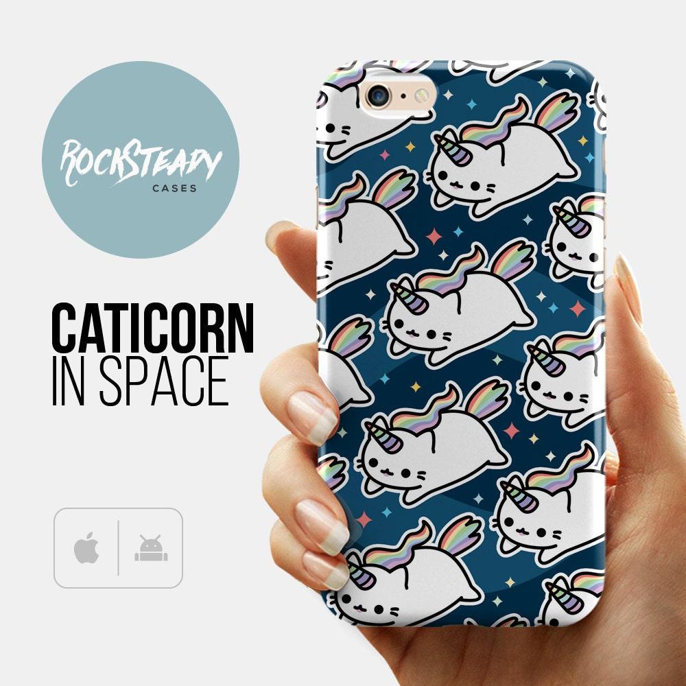 Space Caticorn iPhone 7 case Unicorn iPhone 6s case cat iPhone 6 Plus case Samsung S5 S6 S7 case 5s Case 5c case kawaii 6s plus case