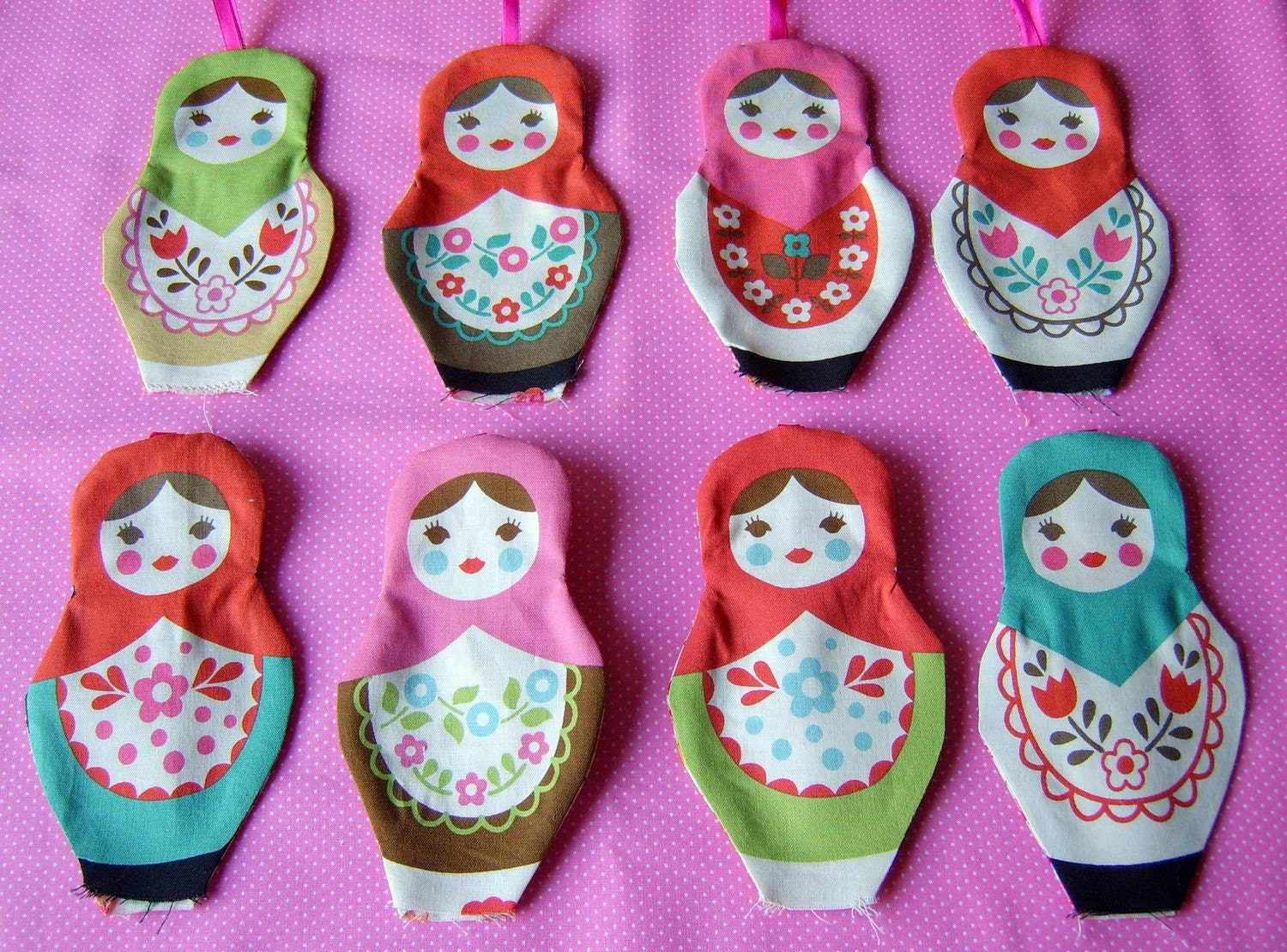8 Christmas ornament russian dolls featured in decor8