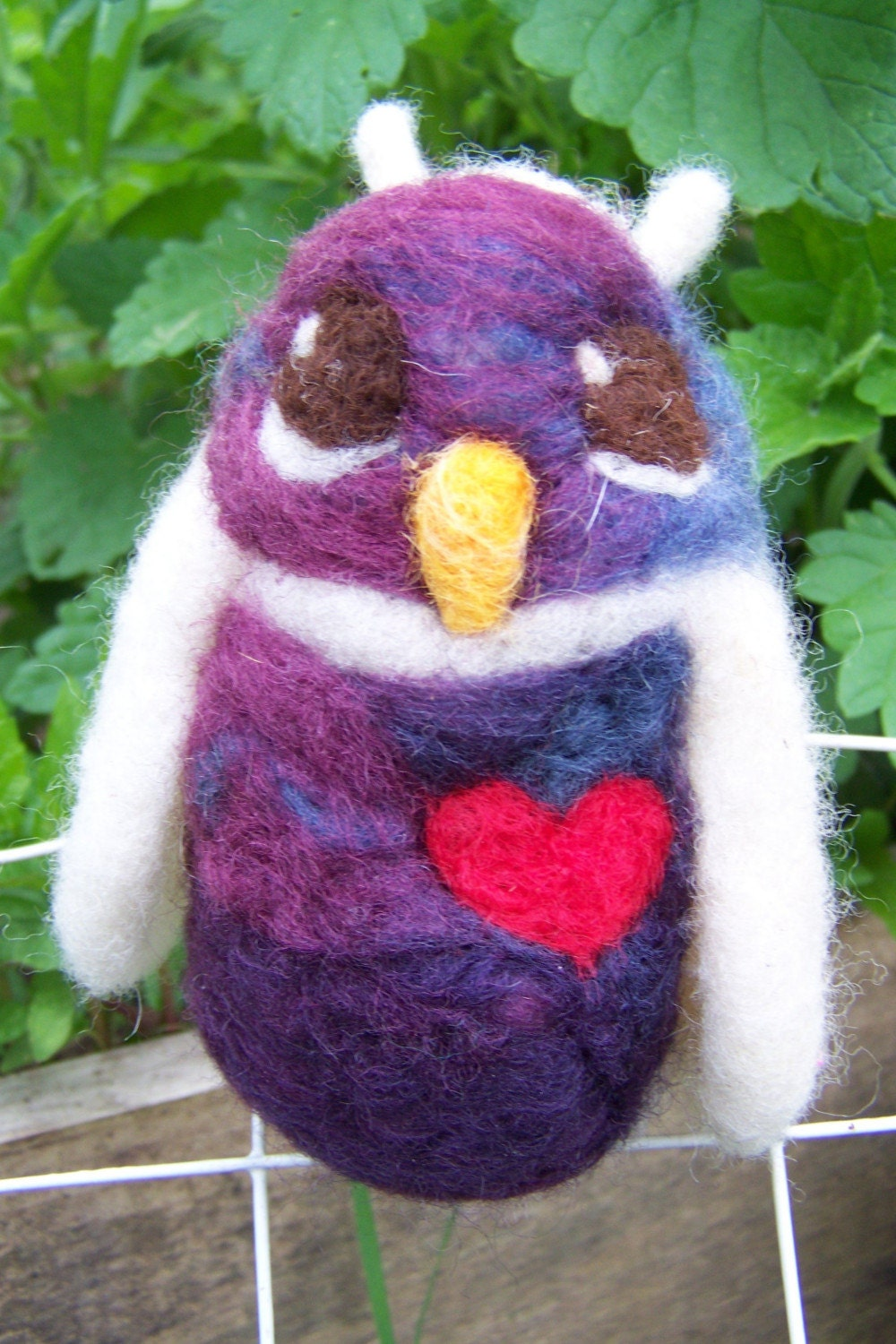Little Hoot No.37- needle felted owlette