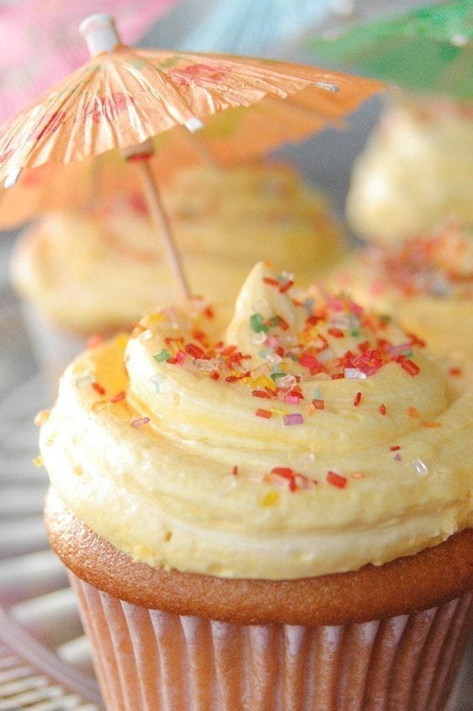 1 Dozen Amaretto Lemon Buttercream Vegan Cupcakes