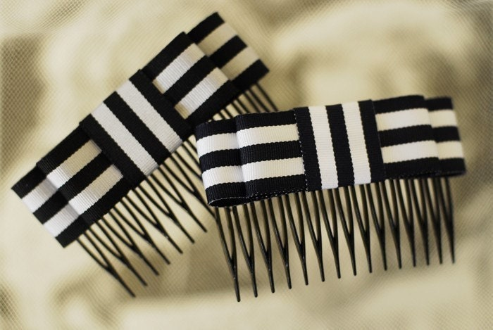 Trianon Striped Bow