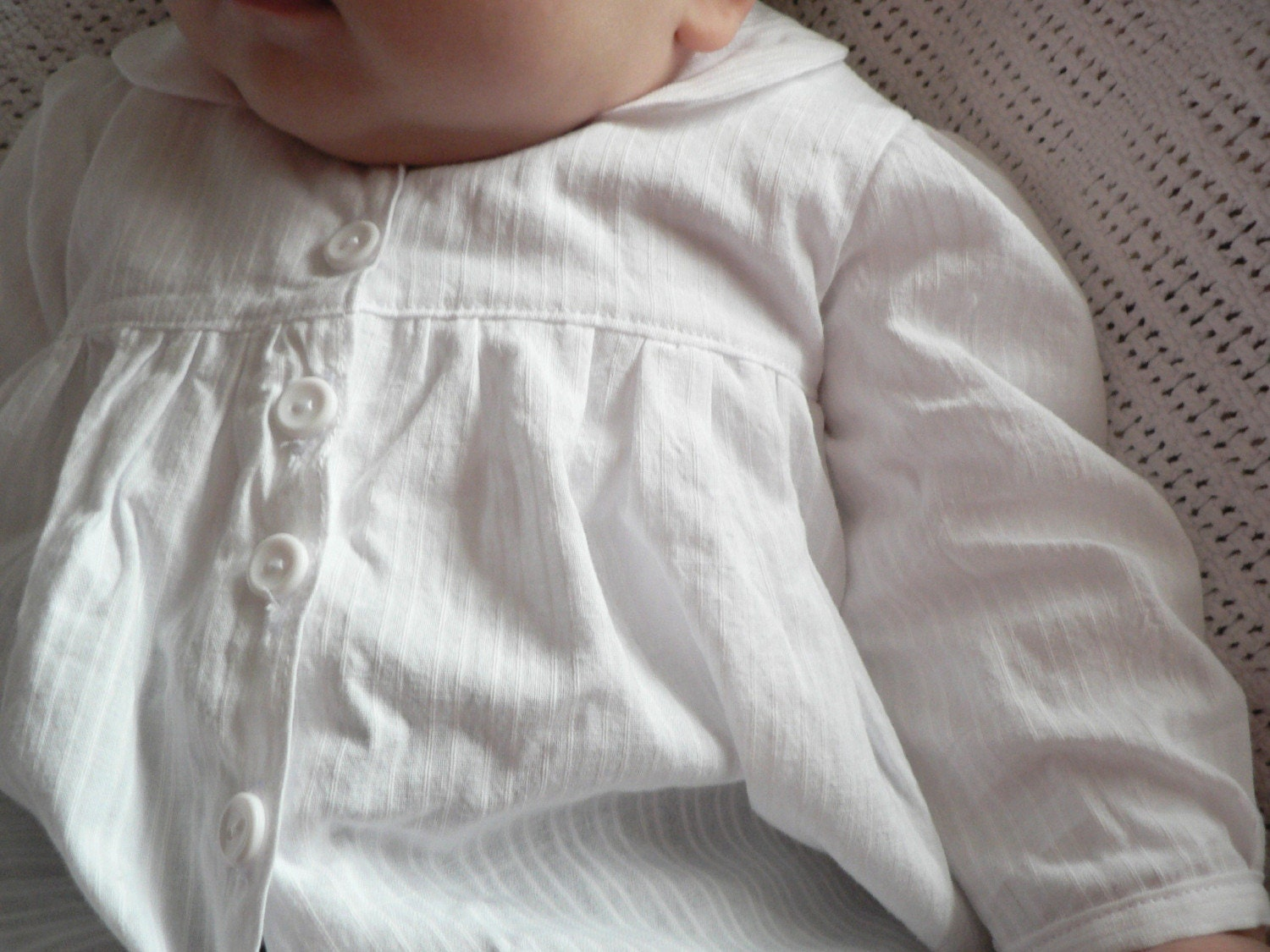 Isabel organic baby blouse and trousers 0-6 months