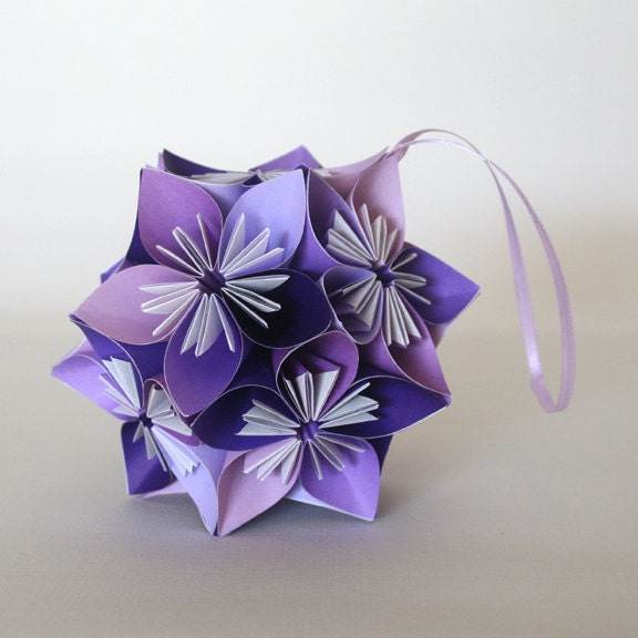 Small Purple Kusudama Flower Ball