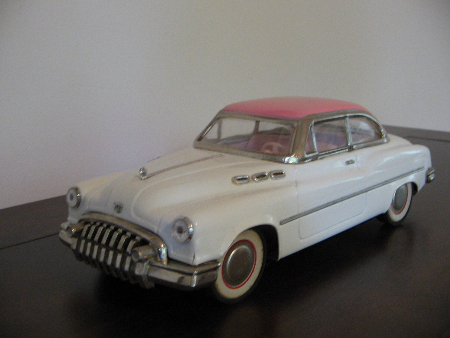 Vintage 1950 White Pink Buick