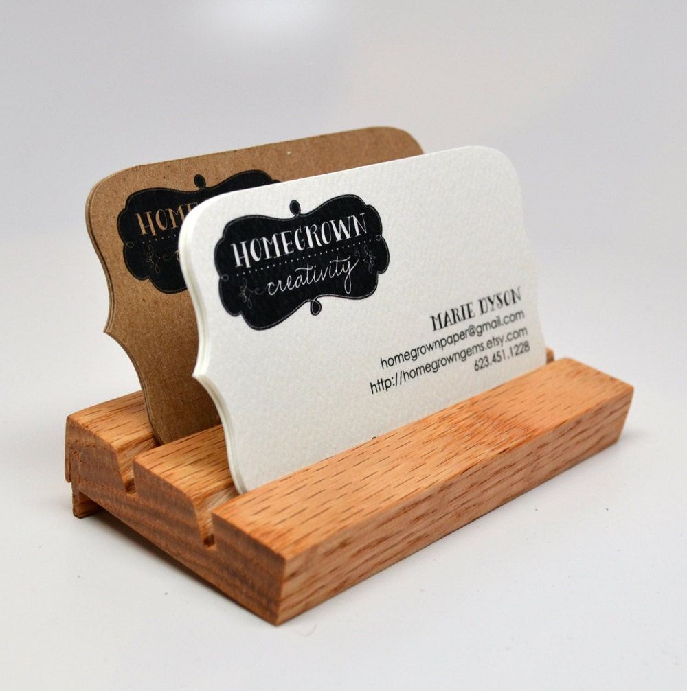Wood Business Cards Holder Display Card Holder by