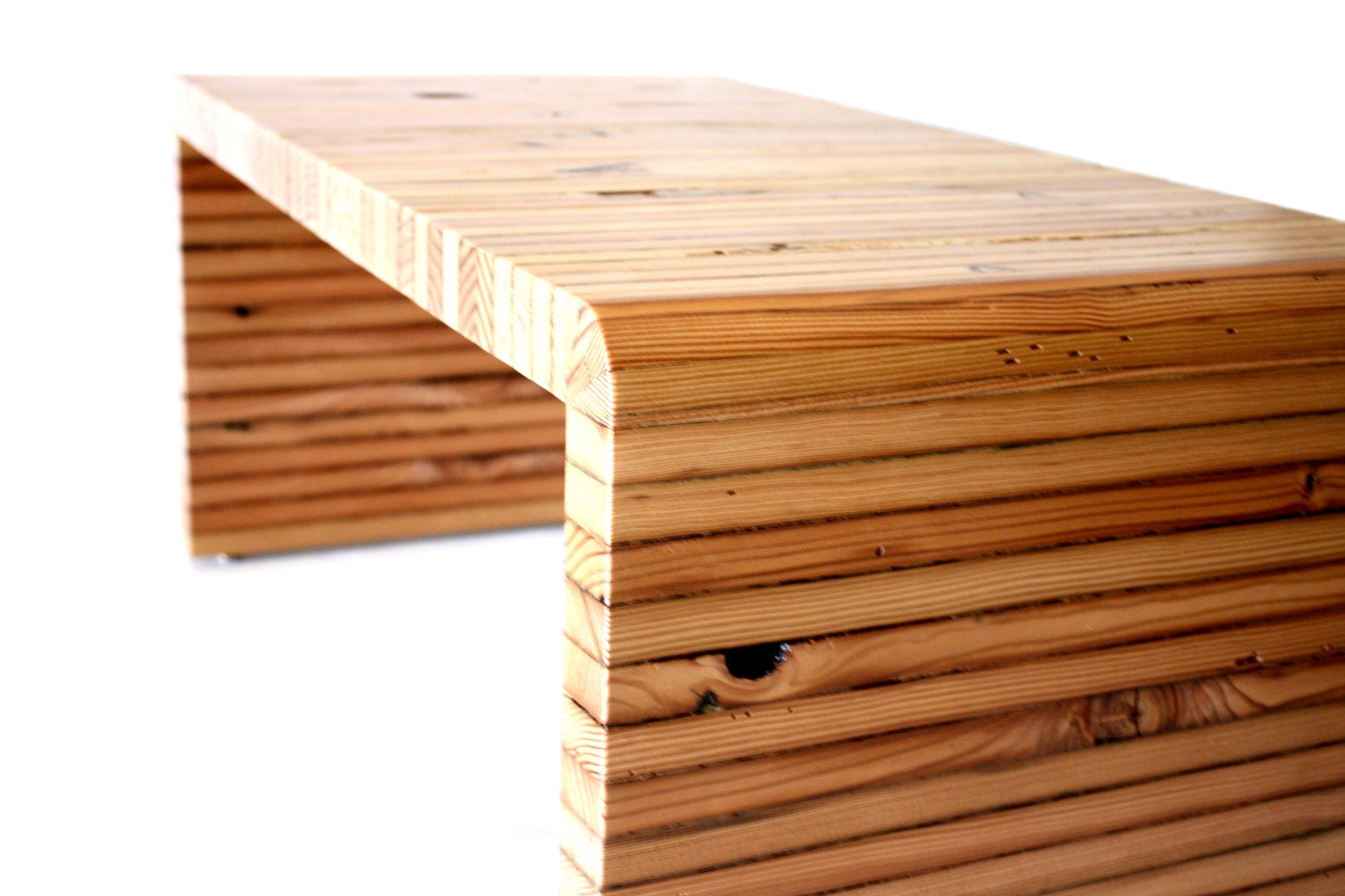 Reclaimed coffee table wood bench barn wood handmade by for Why is wood sustainable