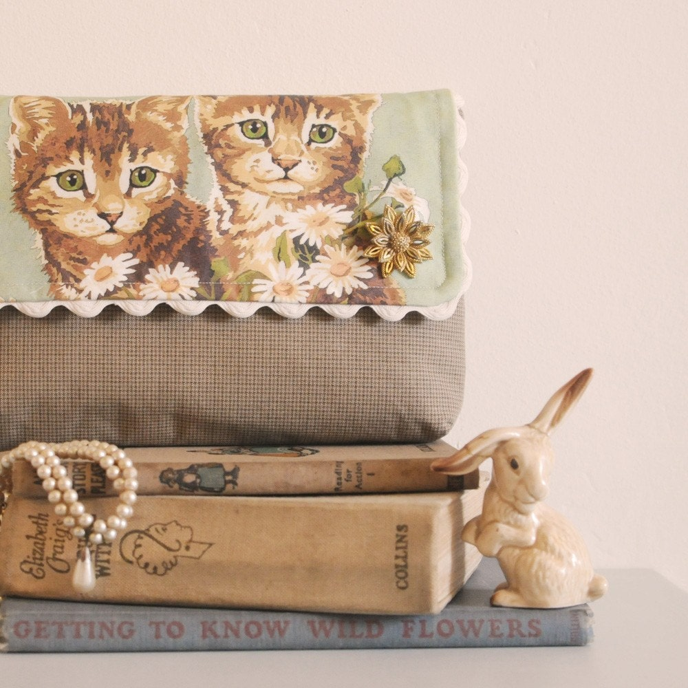 Naughty Kittens Clutch Bag