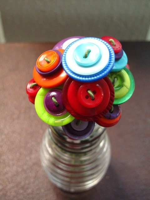 Beehive Button Bouquet - Multicolored