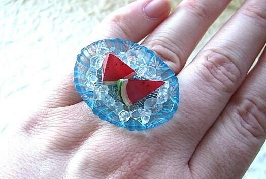 Kawaii Cute Japanese Ring - Watermelon