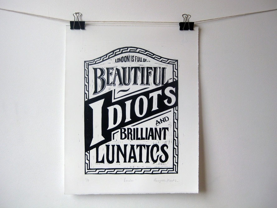 beautiful idiots woodcut