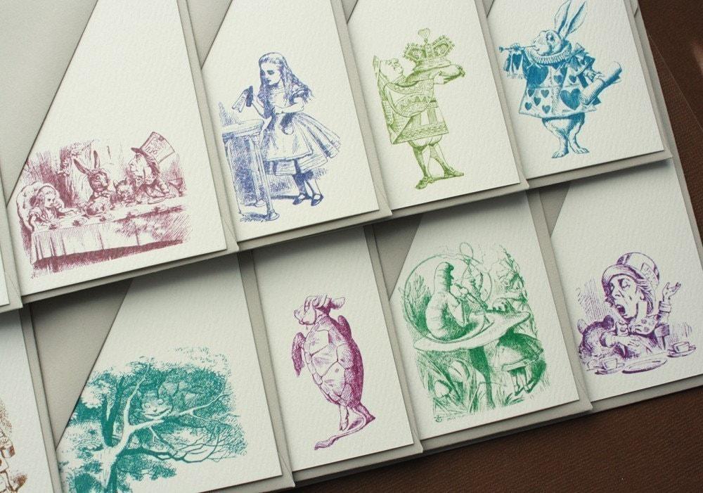 Vintage Alice in Wonderland Stationery Set (10)