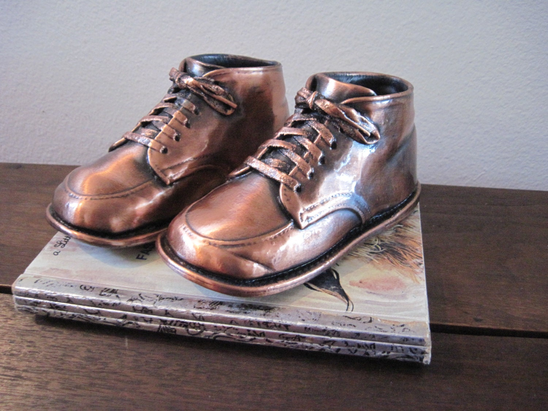 Vintage Bronze Baby Shoes