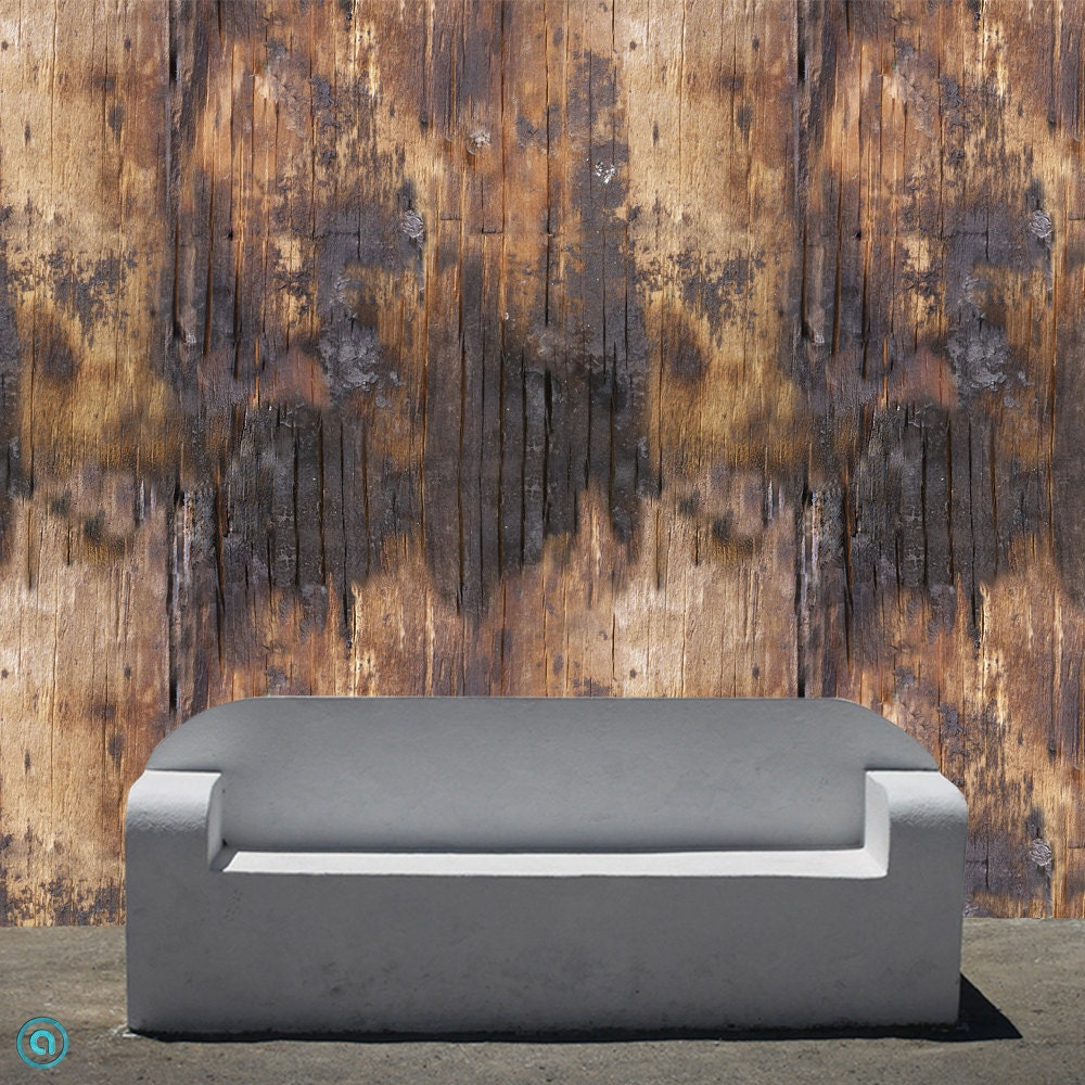 Removable Wallpaper Singed Wood Peel Stick By