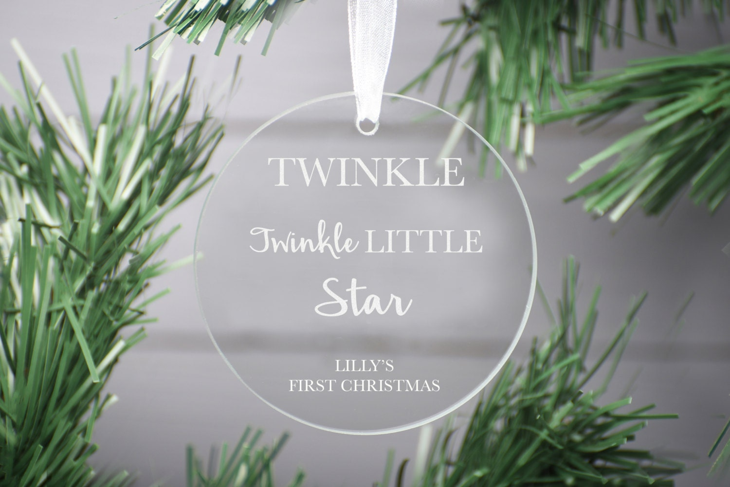 First Christmas Baby Ornament, Babies First Christmas bauble Glass ornament Decoration, Personalised glass decoration