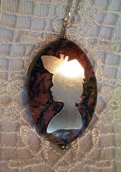 Covet Series ETIQUETTE  Pendant, Sterling Silver, Handmade, Lady, TRINKET