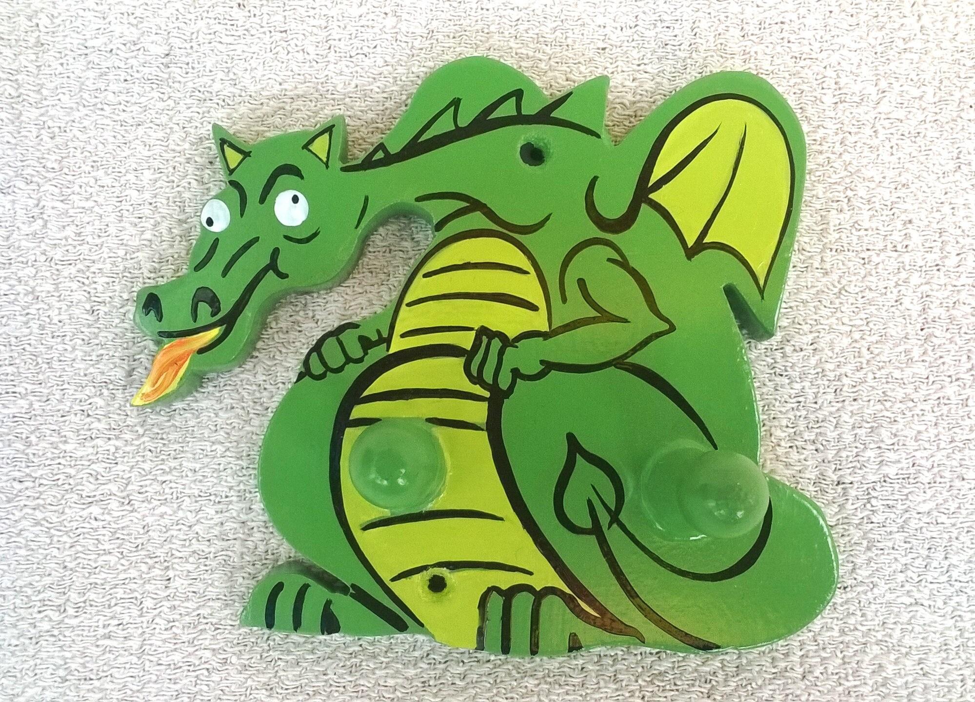 Dragon Coat Hanger Dragon Coat Peg Kids Bedroom Coat Hanger Hand Painted