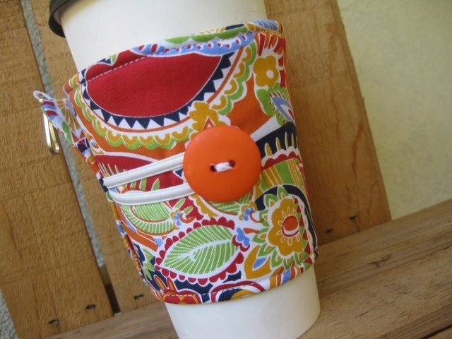 Adjustable Coffee Cozy - Bright