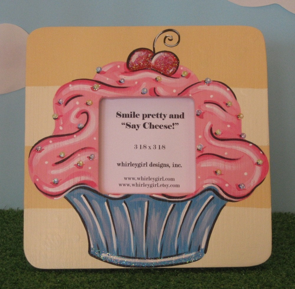 Hand Painted Cupcake Picture Frame