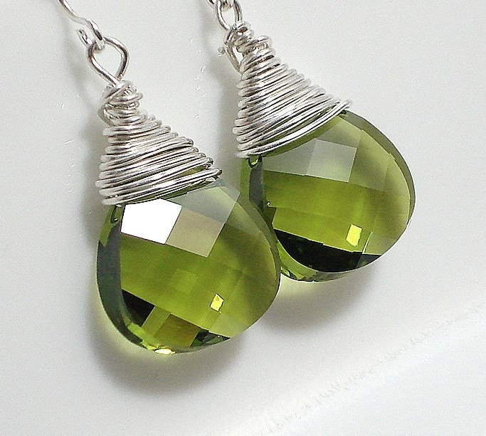 Irish Eyes Swarovski Earrings