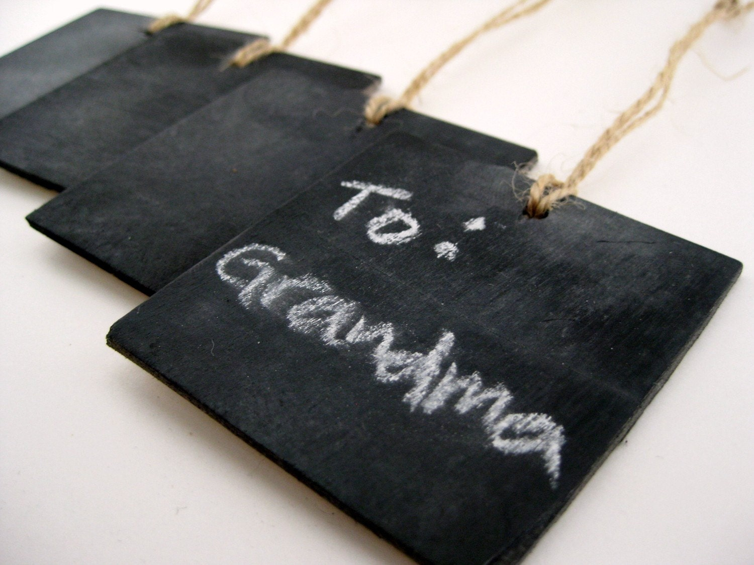 Chalkboard Tags (Set of Four)