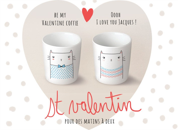 "DUO Cup coffee / espresso ""Jacques et Valentine"" - Sobigraphie"