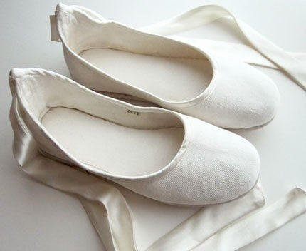Eco-chic Handmade Vegan Bridal Ballet Flats