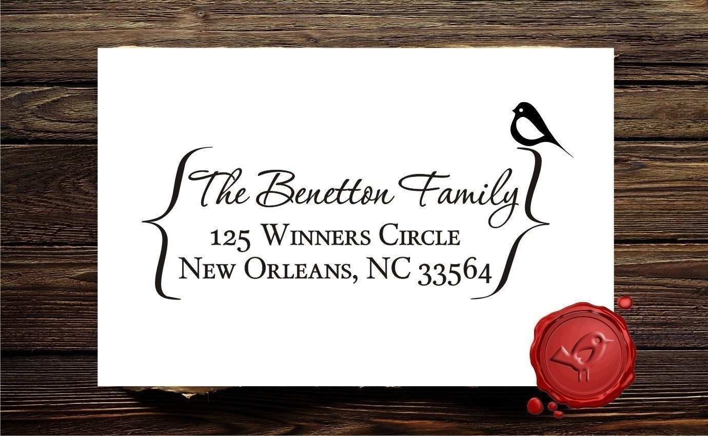 Personalized  address , web address , email or  art  custom text wood handle rubber stamp cute   gift - style 1233