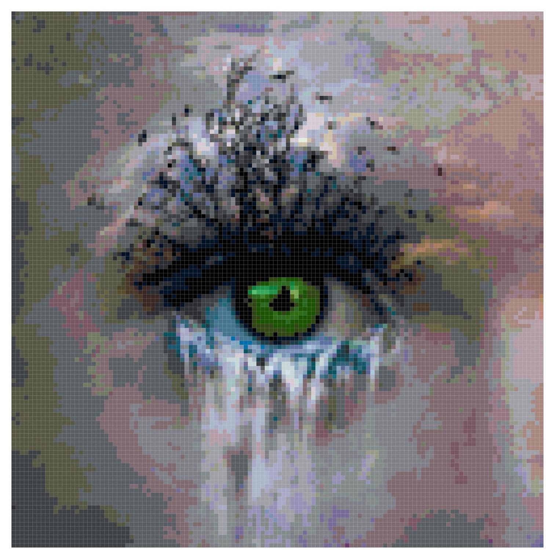 Original cross stitch pattern waterfall eye by crossstitchnerd for Waterfall design etsy
