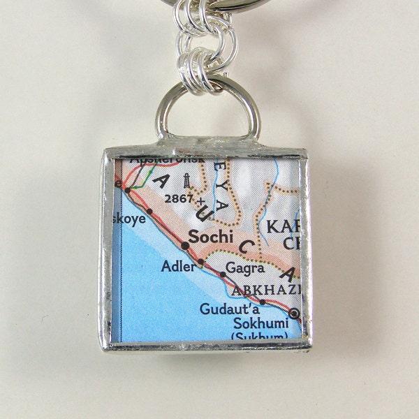Sochi Map Keychain - XOHandworks