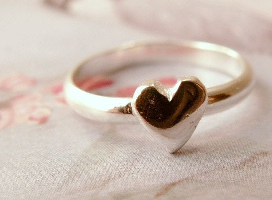From the Heart - Artisan Stacking Ring in Sterling Silver