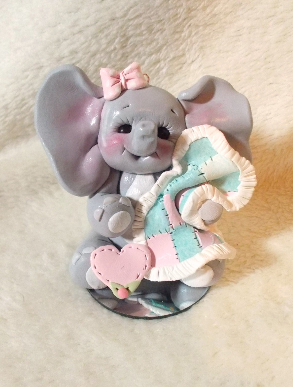items similar to baby shower cake topper elephant christmas ornament