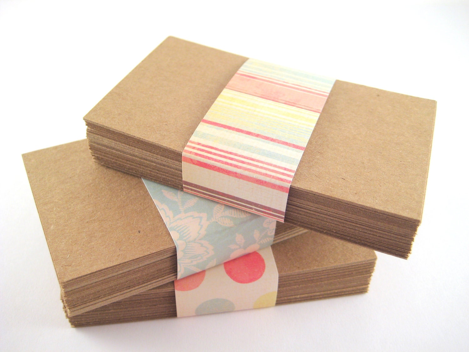 Kraft Paper Business Cards 150 Blank DIY by owlbot on Etsy