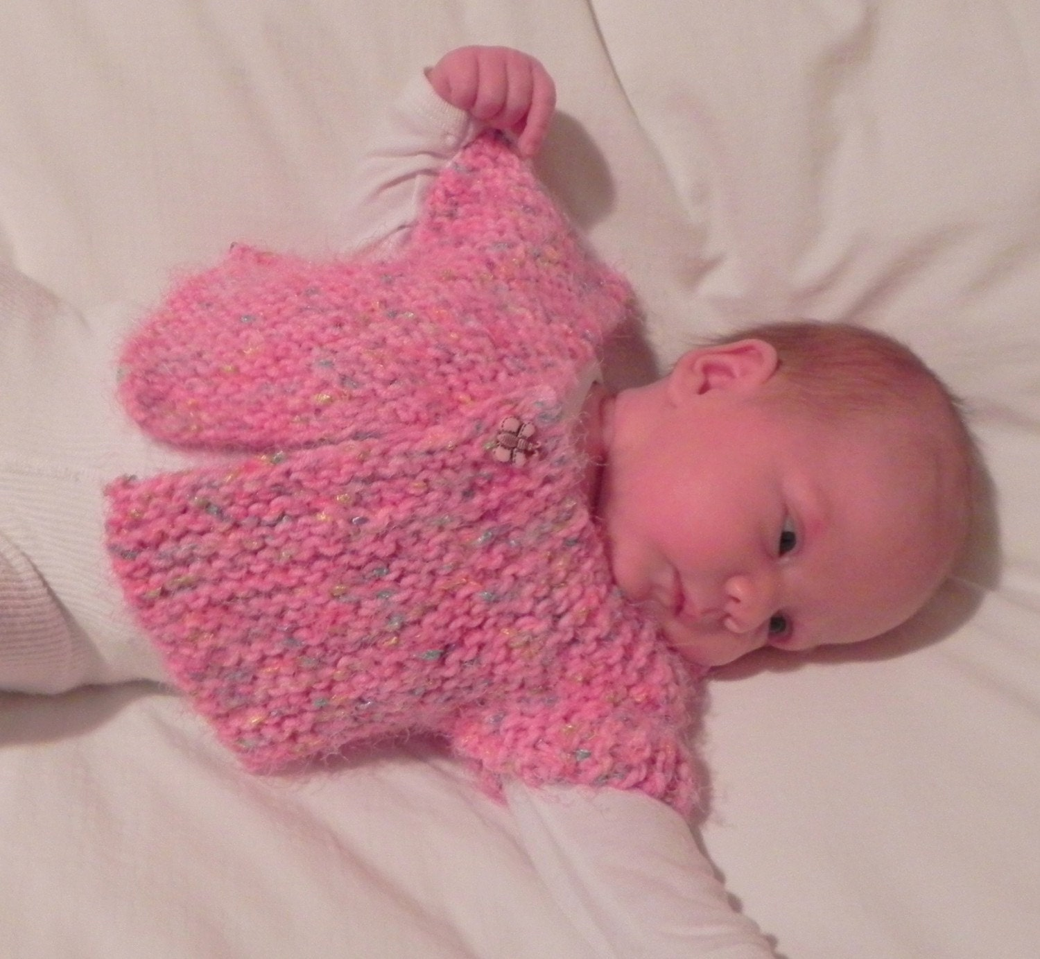 Knitting Pattern For Baby Capelet : French Angel Capelet Baby Sweater Knitting by MadameSegneri
