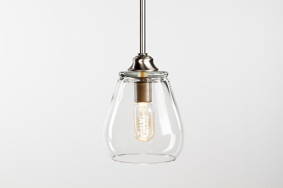 edison bulb pendant light fixture brushed nickel finish. Black Bedroom Furniture Sets. Home Design Ideas