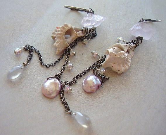 Shabby Shell Earrings