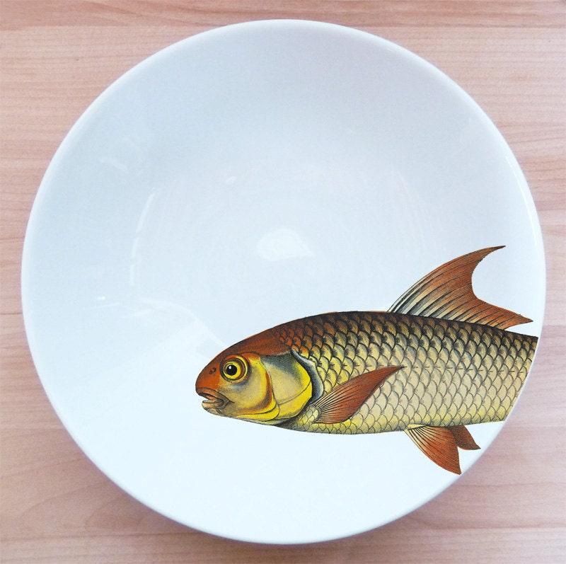 "fishy fish Pasta Bowl- ""coup de soleil"" - MilestoneDecalArt"