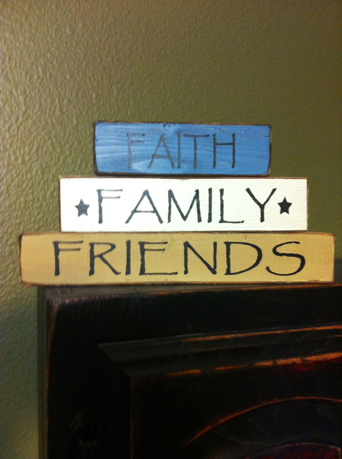 Faith Family Friends Block Stackers -Wood