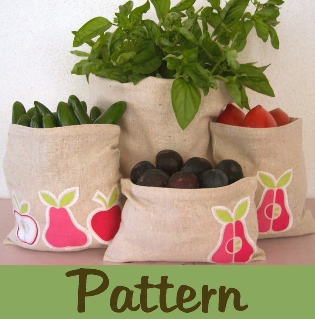 Step by step DIY pattern to make 6 Eco snack sandwich bags PDF
