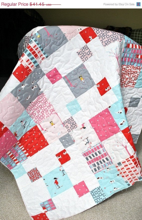 sale sherbet pips charm pack baby quilt kit by fabricflyshop