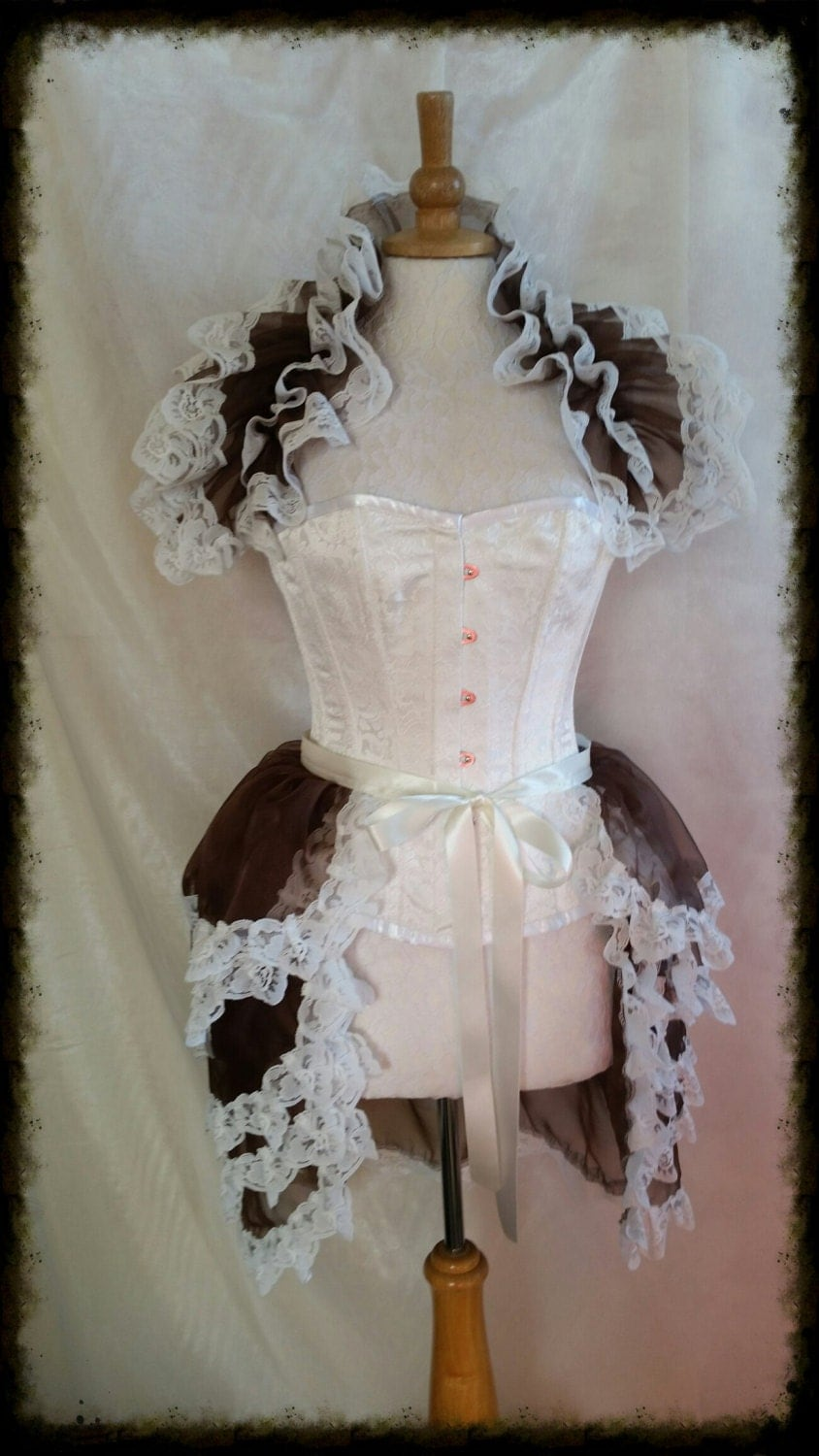 Sale  Burlesque 4 layered  Bustle Skirt  and Shrug Set