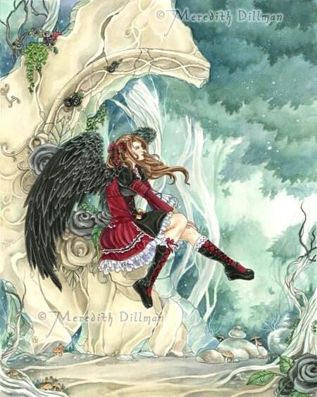 Daydreamer 8x10 print gothic angel fairy