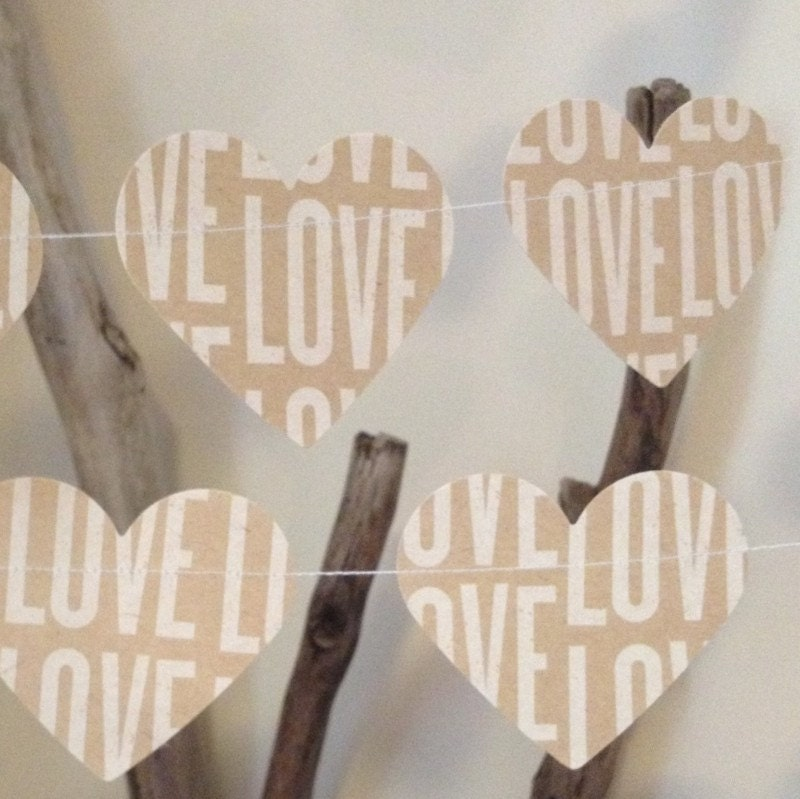 10ft French Provincial Shabby Chic Heart Garland by 10PaperLane